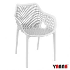 Vanna Spring Arm Chair - White